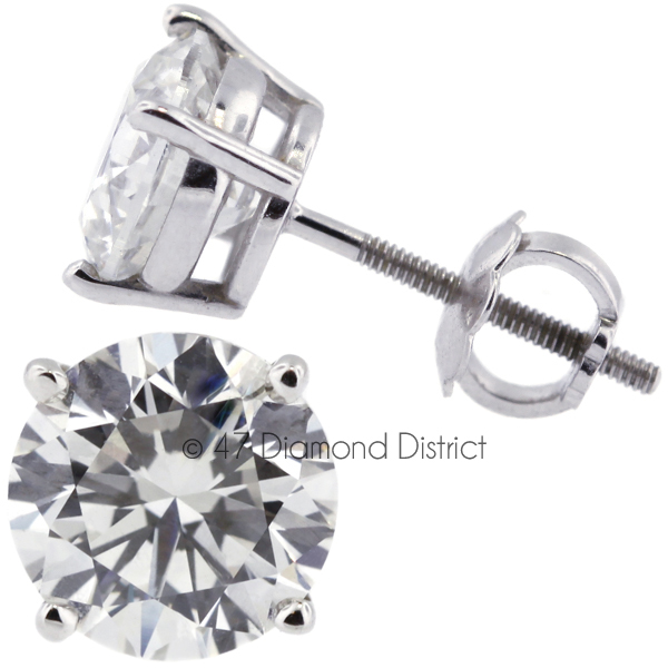 3-05ct-tw-H-SI2-Round-Cut-Natural-Earth-Mined-Certified-Diamonds-14K-Gold-Studs thumbnail 3