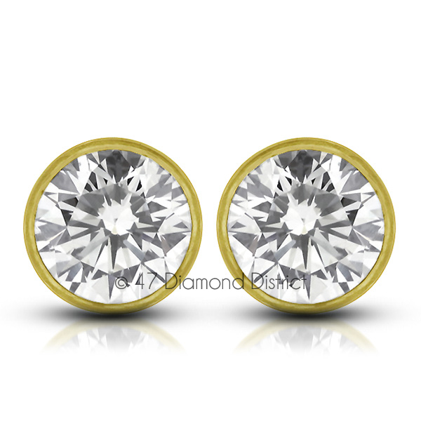 3-03ct-tw-D-SI1-Round-Earth-Mined-Certified-Diamonds-14K-Gold-Classic-Earrings