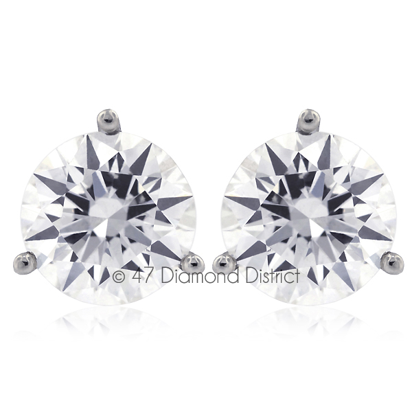 3-03ct-tw-D-SI2-Round-Cut-Earth-Mined-Certified-Diamonds-14K-Gold-Stud-Earrings