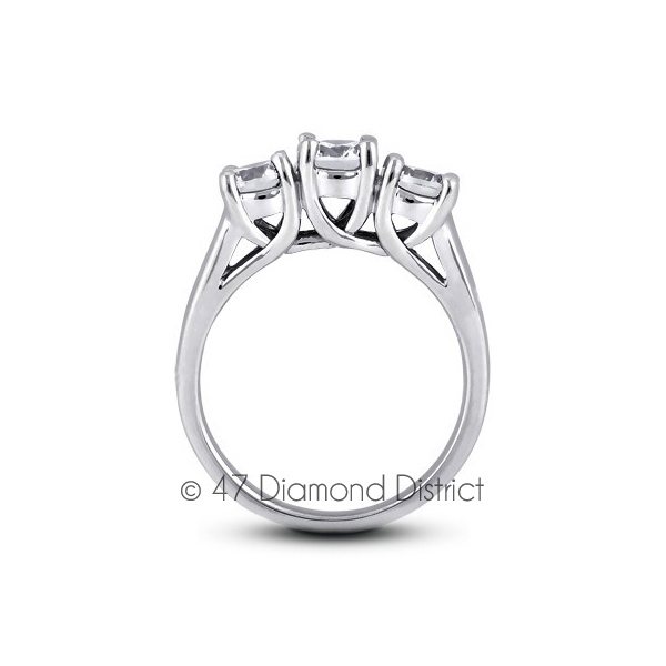 1-77ct-tw-E-SI1-Round-Natural-Certified-Diamonds-PT-950-Classic-Three-Stone-Ring thumbnail 3