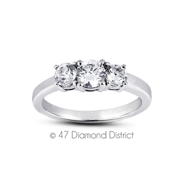 5-94-CT-E-SI1-Round-Natural-Certified-Diamonds-14K-Gold-Classic-Engagement-Ring thumbnail 2