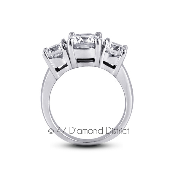 5-94-CT-E-SI1-Round-Natural-Certified-Diamonds-14K-Gold-Classic-Engagement-Ring thumbnail 3