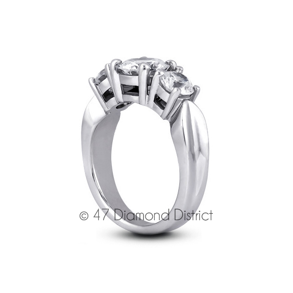 4-35ct-tw-D-SI1-Round-Natural-Certified-Diamonds-PT-950-Classic-Three-Stone-Ring