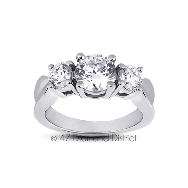 4-35ct-tw-D-SI1-Round-Natural-Certified-Diamonds-PT-950-Classic-Three-Stone-Ring thumbnail 2