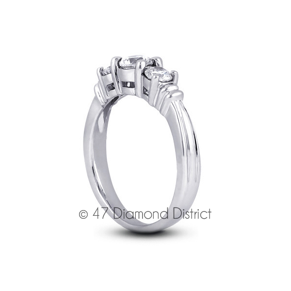 2-11-CT-F-VS1-Round-Natural-Diamonds-14K-Gold-Vintage-Style-Engagement-Ring