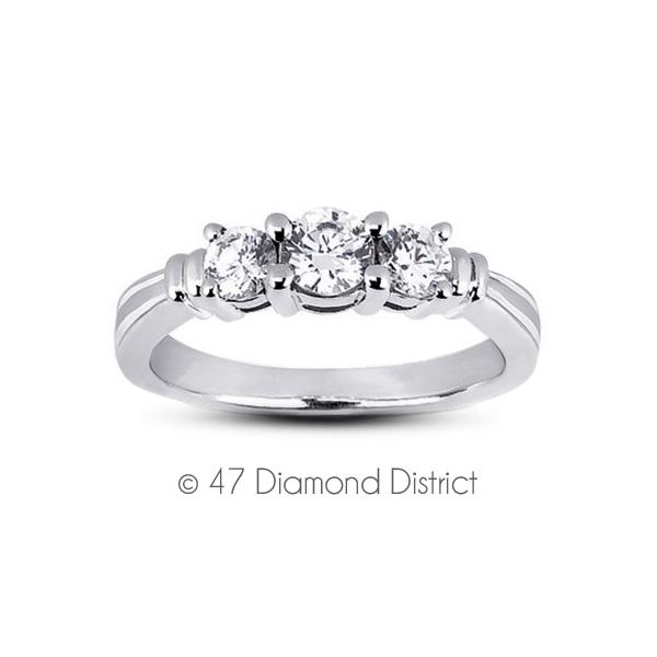 2-11-CT-F-VS1-Round-Natural-Diamonds-14K-Gold-Vintage-Style-Engagement-Ring thumbnail 2