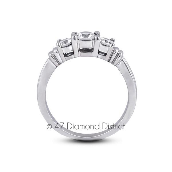 2-11-CT-F-VS1-Round-Natural-Diamonds-14K-Gold-Vintage-Style-Engagement-Ring thumbnail 3