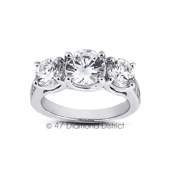 4-03ct-tw-D-IF-Round-Natural-Certified-Diamonds-18K-Gold-Classic-Engagement-Ring thumbnail 2