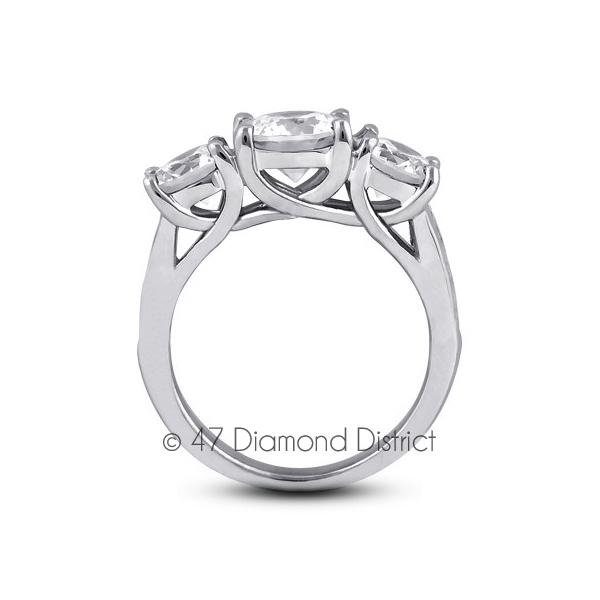4-03ct-tw-D-IF-Round-Natural-Certified-Diamonds-18K-Gold-Classic-Engagement-Ring thumbnail 3