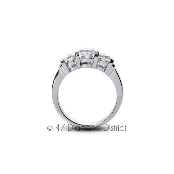 2-23-CT-F-SI1-Round-Natural-Certified-Diamonds-18K-Gold-Classic-Engagement-Ring thumbnail 3