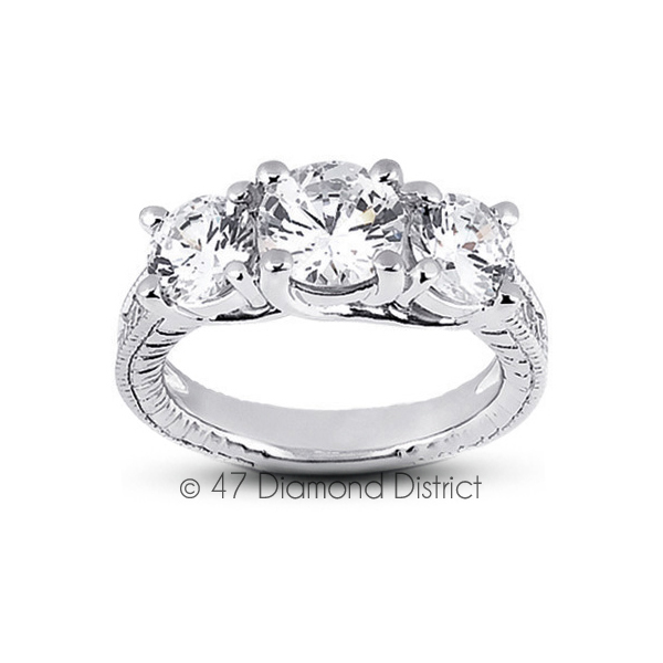 2-64-CT-G-SI1-Round-Natural-Diamonds-PT-950-Vintage-Style-Engagement-Ring thumbnail 2