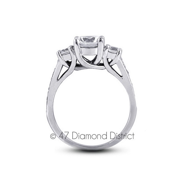 3-36ct-tw-F-SI2-Round-Natural-Certified-Diamonds-PT-950-Classic-Three-Stone-Ring thumbnail 3