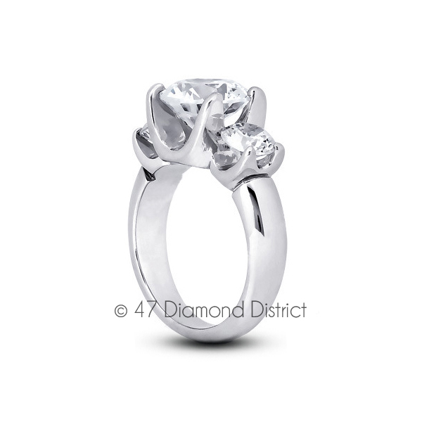 5-96-CT-F-SI2-Round-Natural-Certified-Diamonds-18K-Gold-Classic-Three-Stone-Ring