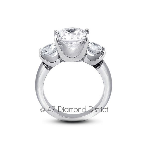 5-96-CT-F-SI2-Round-Natural-Certified-Diamonds-18K-Gold-Classic-Three-Stone-Ring thumbnail 3