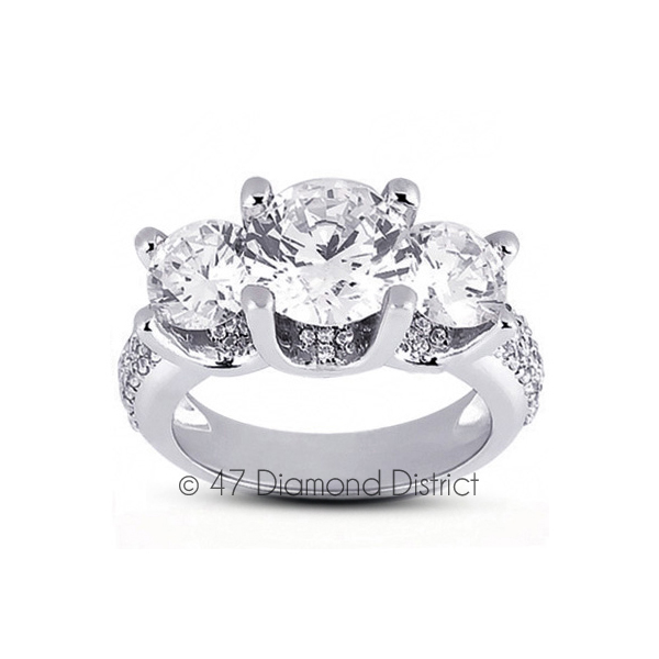 5-70-CT-D-SI1-Round-Natural-Certified-Diamonds-14K-Gold-Classic-Engagement-Ring thumbnail 2