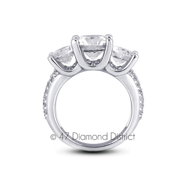 5-70-CT-D-SI1-Round-Natural-Certified-Diamonds-14K-Gold-Classic-Engagement-Ring thumbnail 3
